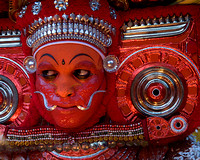 Gods and goddesses are believed to be invoked in flesh in the religious cult of Theyyam