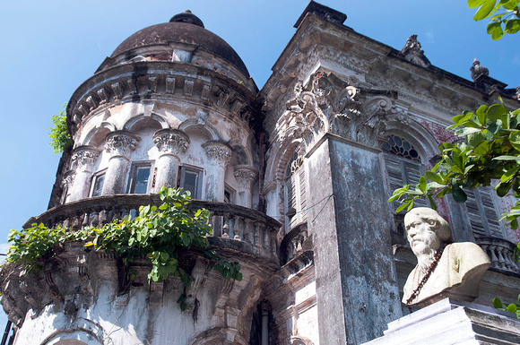 7. The grand facade of a French-era building in Chandannagar